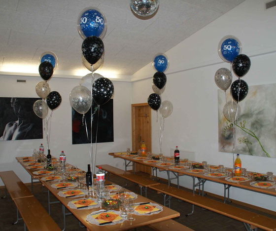 Mr.Balloni.ch,Deko, Raumdeko, Geburtstag, Überraschung, Tischdekoration,Firma, Betrieb, Feier, Jubiläum