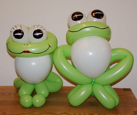 Ballonfrösche, Ballonfrosch, Ballondeko, Geschenk,Mr.balloni ch