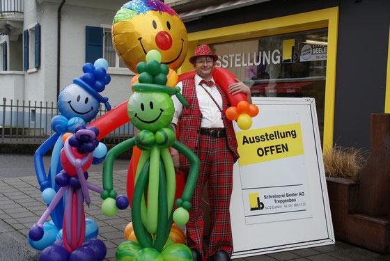Mr. Balloni.ch, Ballonmann, Ballonclown, Dekoration, Firma, Tag der offenen Tür, Jubiläum