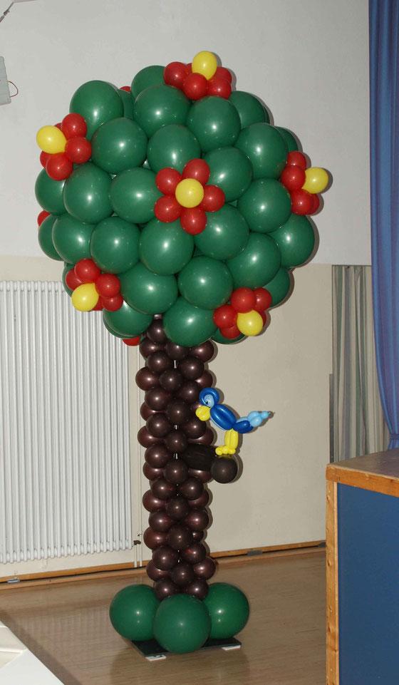 Mr. Balloni.ch, Dekoration, Ballonbaum, Sommer, Raumdekoration,Ballonvogel,Phantasie, Fantasie
