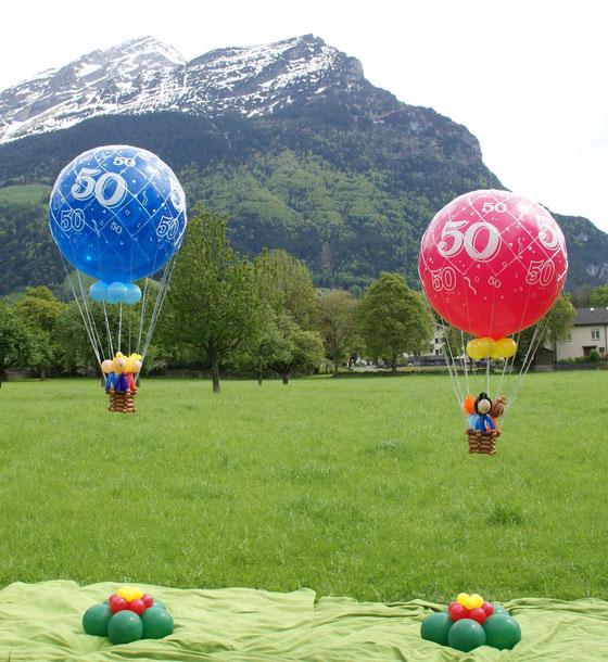 Heißluftballone, Berge, Deko,Geburtstag, mr.  toni balloni