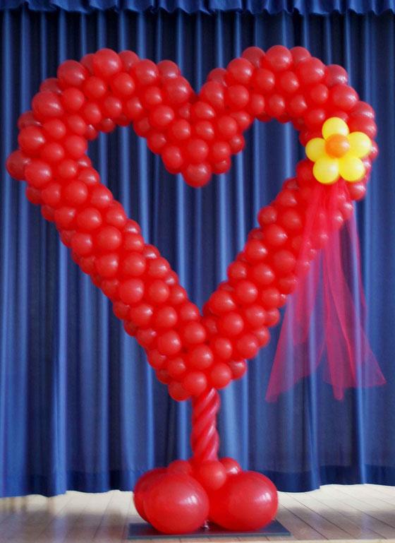 Mr. Balloni.ch, Hochzeit, Liebe, Herz, Ballonherz,Dekoration, Raumdeko, Geburtstag, Muttertag, Überraschung