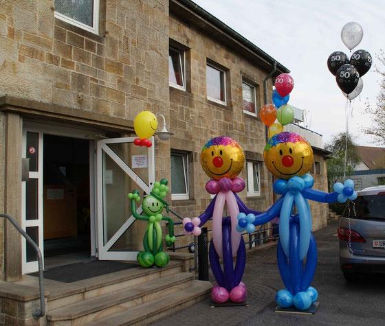 Mr. Balloni.ch, Dekoration,Ballonmänner,  Firma, Betrieb,Jubiläum, Tag der offenen Tür, Heliumballons,
