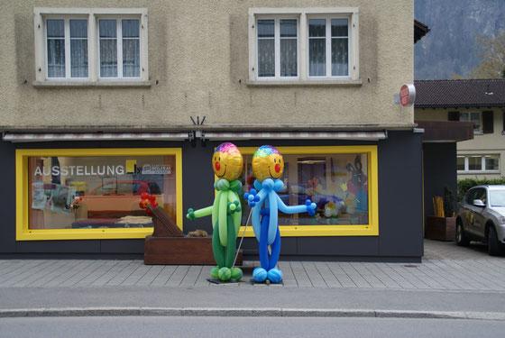 Mr. Balloni.ch,  Heliumballon, Helium,, Überraschung, , Raumdeko, Wegweiser, Kundenstopp, Firma, Betrieb