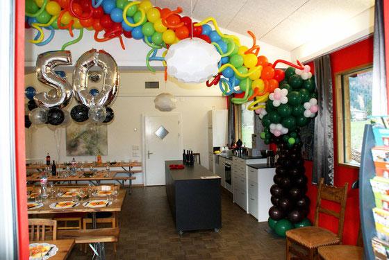 Mr. Balloni.ch, Dekoration, Raumdeko, Geburtstag, Ballongirlande, Ballonbaum, Feier, Fest, Jubiläum
