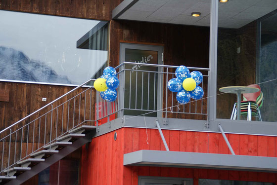 Mr. Balloni.ch, Dekoration,Ballonblumen, Wegweiser, Geburtstag, Jubiläum