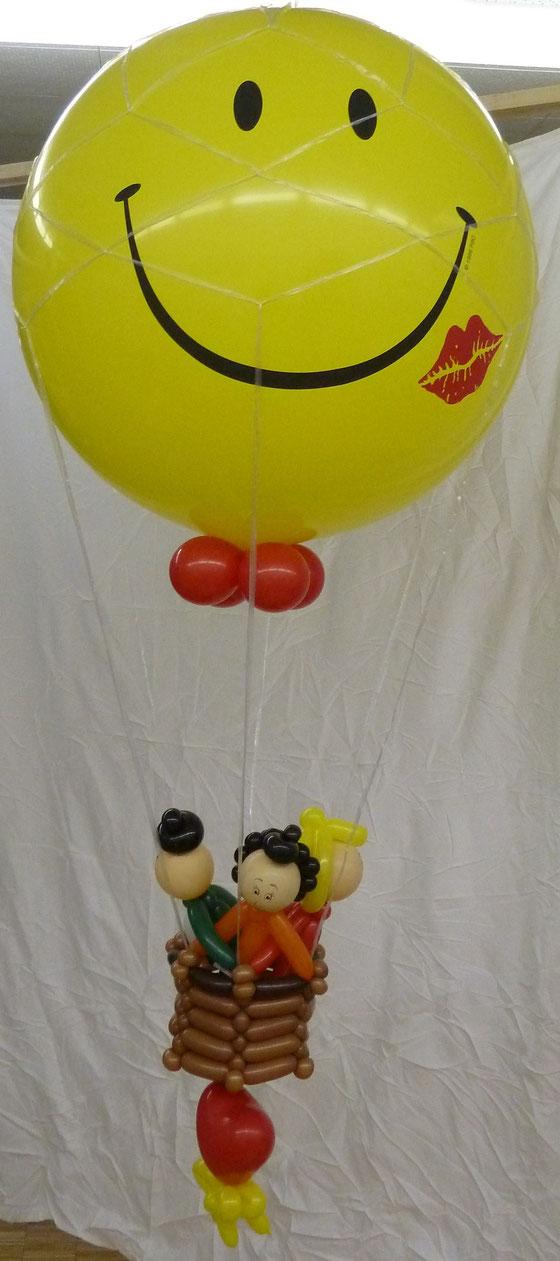 Mr.balloni ch,Heißluftballon, Flug,Ballondeko, Geburtstag, Geschenk, Smily