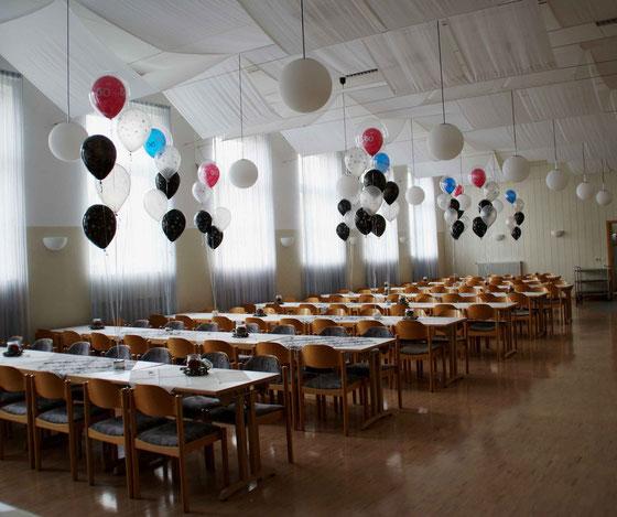 Mr.Balloni.ch,Deko, Raumdeko, Geburtstag, Überraschung, Tischdekoration,Firma, Betrieb, Feier