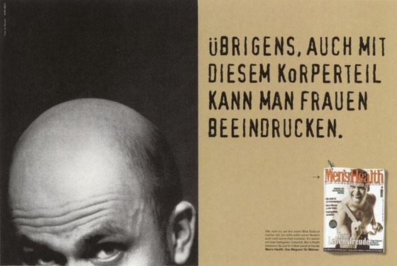 """Men's Health Kampagne – Motiv """"Körperteil"""""""