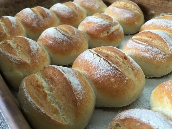 Brötchen fertig gebacken in der Ofenhexe von Pampered Chef