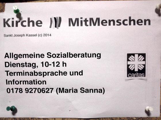 Bis zum 15.04.2015 hat es ein Beratungsangebot am Rothenberg im Quartiert gegeben. Die Caritas hat das Angebot eingestellt. Wir hoffen ab Juni 2015 ein neues verlässliches Angebot für Bedürftige vor Ort einrichten zu können!
