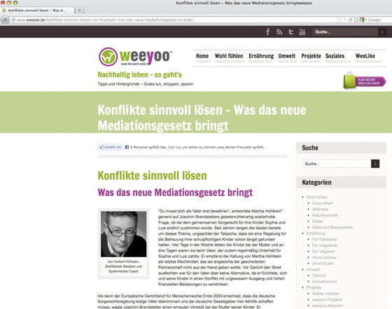 Screenshot www.weeyoo.de