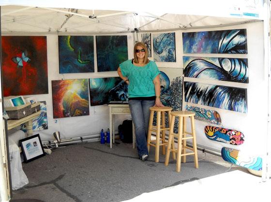 SaxonLynn Arts - Main St Fort Worth Art Festival Booth - Fort Worth Tx