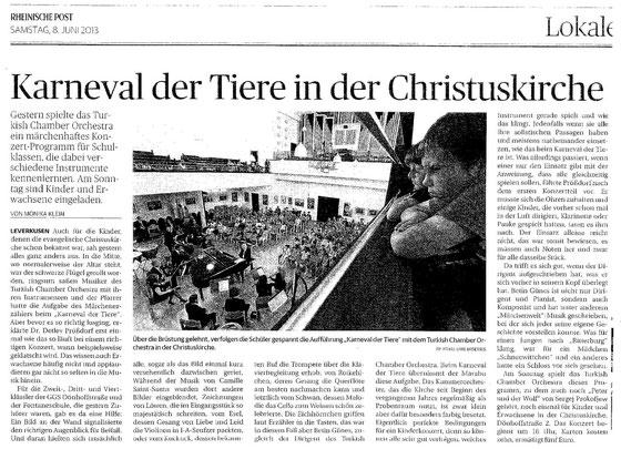 Karneval der Tiere in der Christuskirche - Rheinische Post