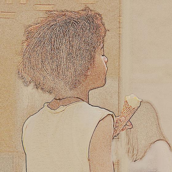 Vanilleeis, Canvas 60 x 60 cm