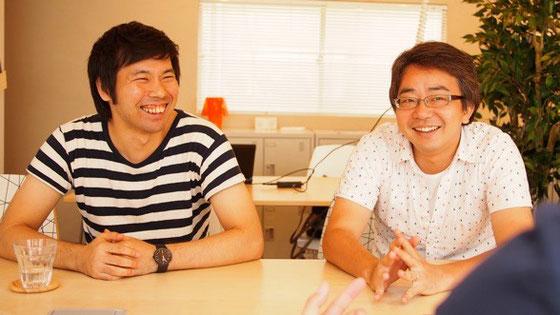 笑顔でこれまでを振り返る畑さん(左)、高田さん(右)