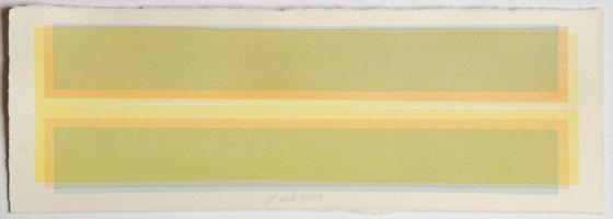 Überlagerung 67 I Tusche auf Büttenpapier I 14 x 40 cm