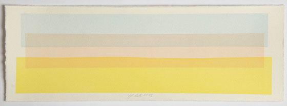 Überlagerung 68 I Tusche auf Büttenpapier I 14 x 40 cm