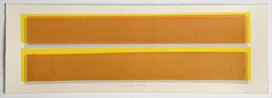 Überlagerung 69 I Tusche auf Büttenpapier I 14 x 40 cm