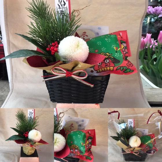 和菓子の青柳さんとお正月コラボ♪【花屋まるよし】