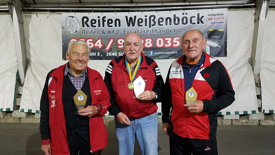 Vereinsmeisterschaft 2019 - Damen/Senioren Ü70 - TOP 3