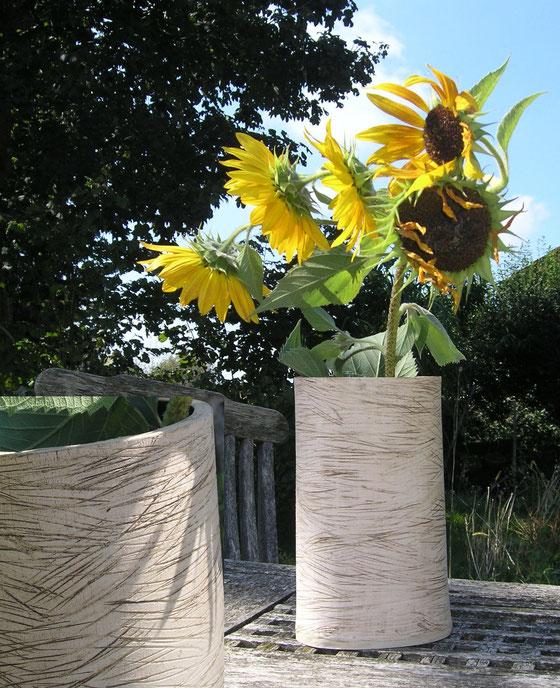 Vase in Plattentechnik