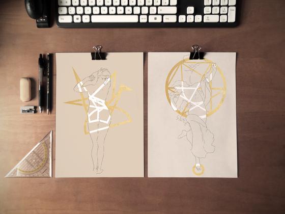 Origami & L'aurore - Lizz Maple - Encre sur Papier