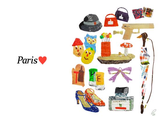 Paris♥/マスキングテープ PhotoshopCS6 IllustratorCS6 2013,10.23