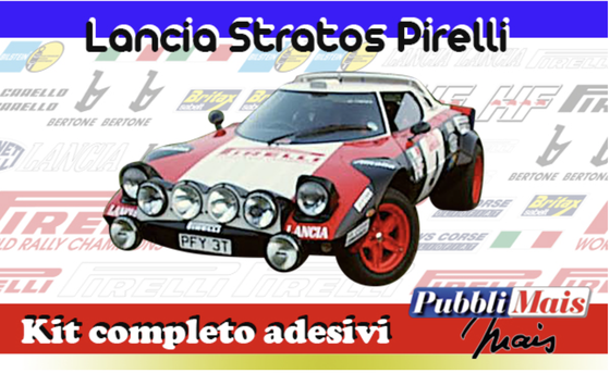 costo prezzo lancia stratos pirelli grafica kit completo sponsor adesivi online shop pubblimais