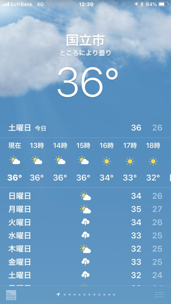 ☆講座を終えてかたずけを済ませて気温が36℃。暑い日差し。