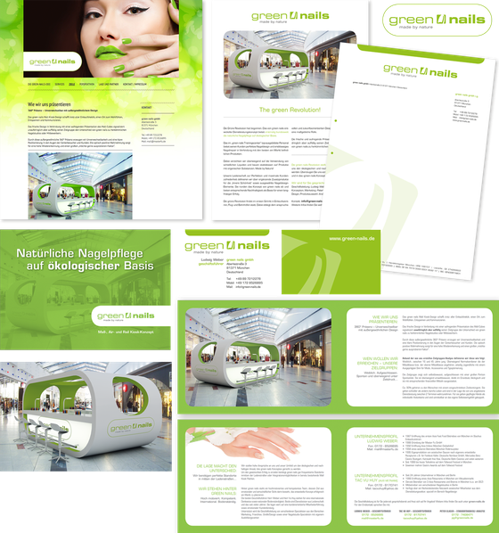 Corporate Design: green nails gmbh