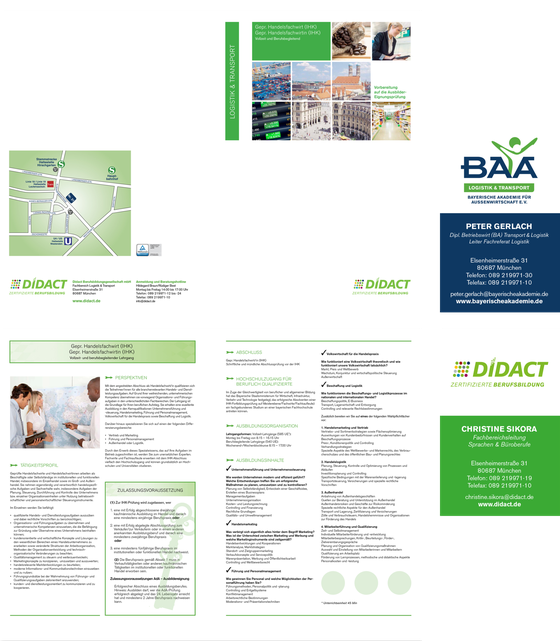 Flyer & Visitenkarten: BAA / DIDACT