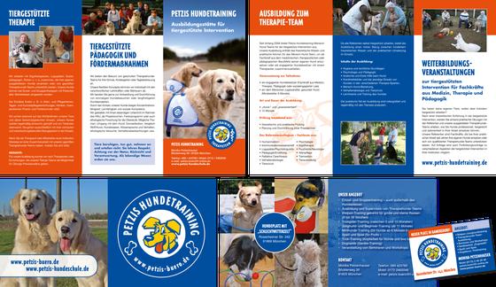 Flyer und Anzeige: Petzis Hundetraining