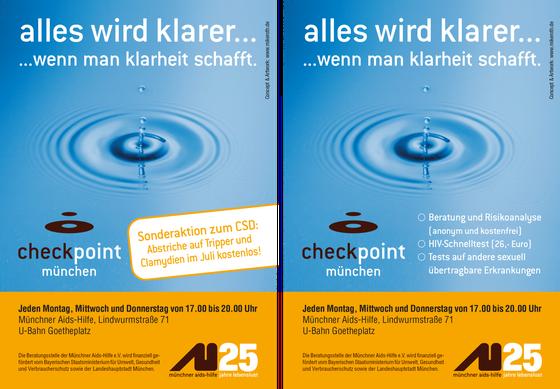 Anzeige und Plakat: Check Point