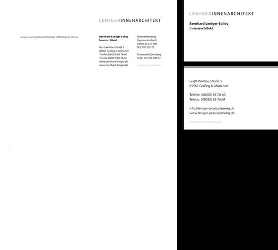 Geschäftsausstattung: Bernhard Leniger