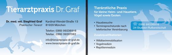 Praxisschild und Visitenkarten: Dr. Siegfried Graf