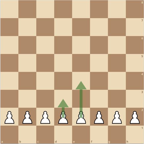 練馬チェス教室  ポーン  動かし方 チェスの魂 初期配置 2歩