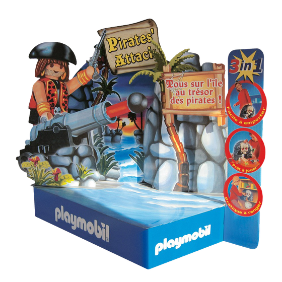 Playmobil - POS Display - von RATTPACK, POS-Display aus Wellpappe. Bodendisplay, Dekodisplay für den Point of Sale