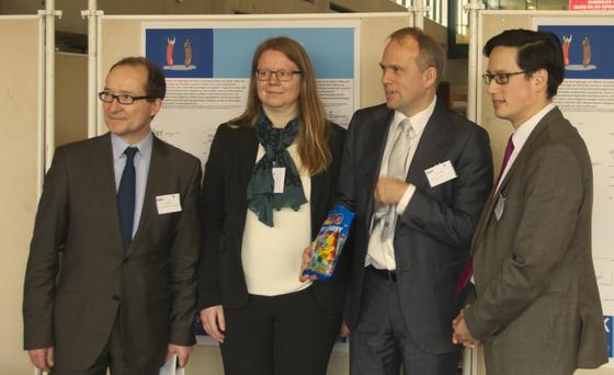 Jörg Kilian, Erla Hallsteinsdóttir, Henrik Dam und Marko Lins zur Abschlusskonferenz im Februar 2015 ||  til afslutningskonferencen i februar 2015