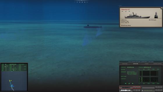 Auch als U-Boot ist man nicht komplett wehrlos gegen ankommende Torpedos. Hier habe ich einen MOSS (Mobile Submarine Simulator) abgeschossen, der meine Geräusche imitiert und Torpedos auf die falsche Fährte locken kann.