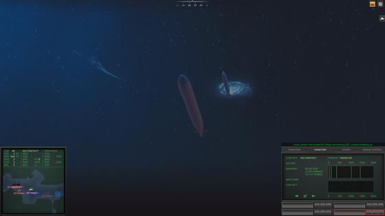 Aktivierte Torpedos kennen weder Freund noch Feind. Ist das Kabel für die Steuerung erst durchtrennt, sollte man besser Abstand halten. Zu meinem Glück kannte dieser Kapitän diese einfache Regel wohl nicht, denn meine eigene Munition war längst verbraucht
