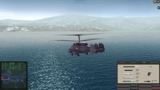Hubschrauber wie dieser Kamow Ka-25 lassen im Spiel nicht locker. Einmal von ihrem Trägerschiff gestartet werfen sie Sonarbojen, (nukleare!) Wasserbomben und Torpedos ab bis sie dich erwischen.