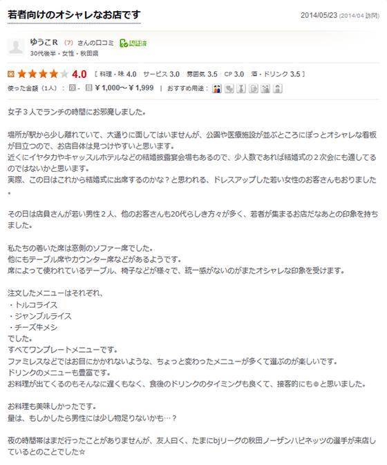 秋田市 カフェ ローカループ_食べログ1