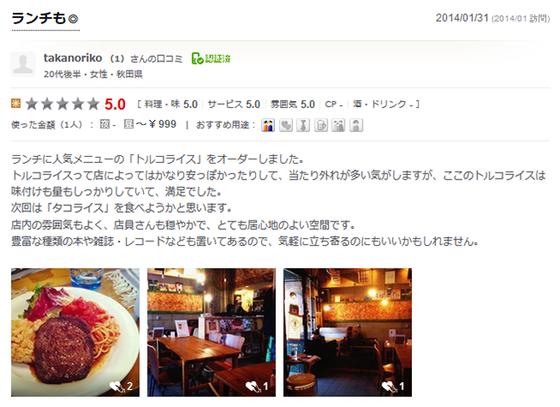 秋田市 カフェ ローカループ_食べログ4