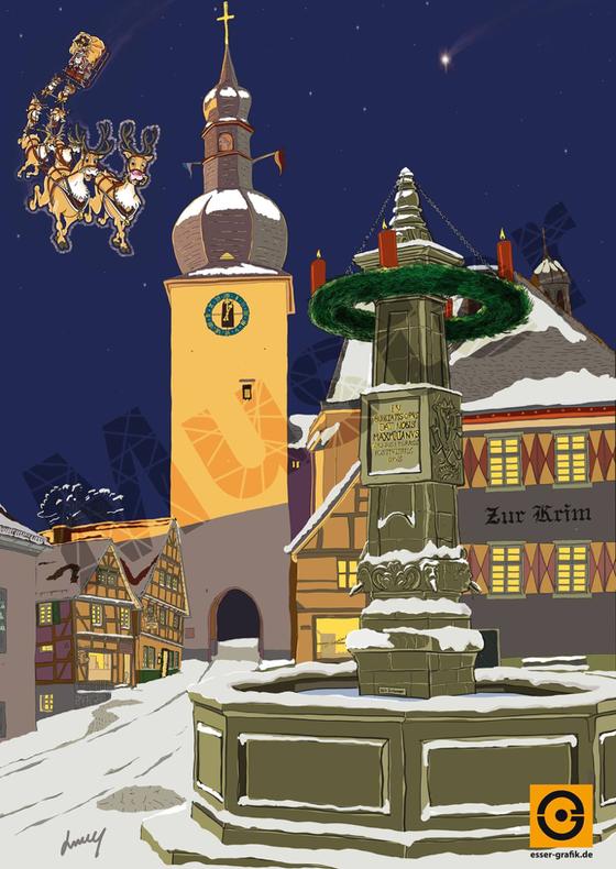 Weihnachtspostkartenmotiv