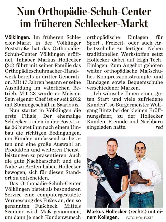 Saarbrücker Zeitung August 2013