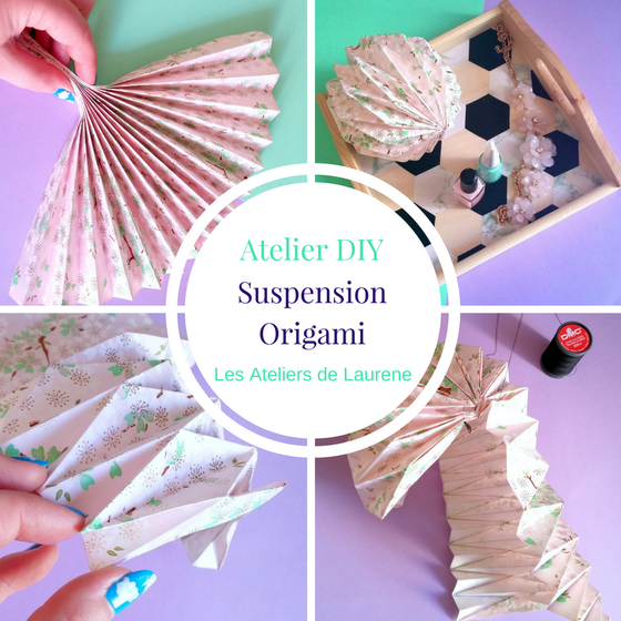 diy suspension origami les ateliers de laur ne ateliers cr atifs paris ateliers diy kits diy. Black Bedroom Furniture Sets. Home Design Ideas
