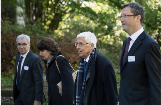 Staatsakt zur 600 Jahr Feier von Bruder Klaus. Mit dem Festredner (und meinem ehemaligen Professor) Peter von Matt. April 2017
