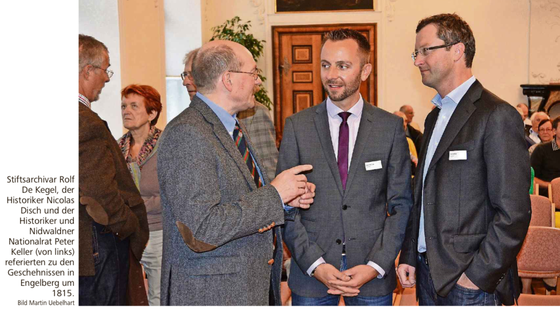 Referat an der Jahresversammlung des Hist. Vereins Zentralschweiz in Engelberg. September 2015 (Bild NNZ)