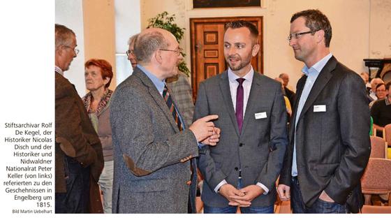 Referat an der Jahresversammlung des Hist. Vereins Zentralschweiz in Engelberg. September 2015 (Bild NNZ)